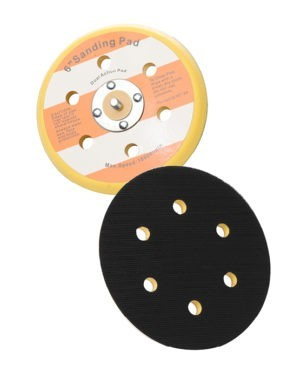 MIX & MATCH Backing Pad 6 holes Velcro